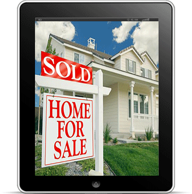 iPad showing house/home sold